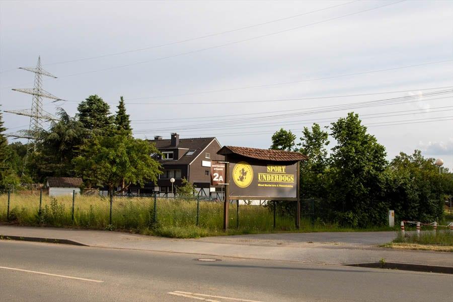 Sportschule Sport Underdogs Castrop-Rauxel Hinweisschild